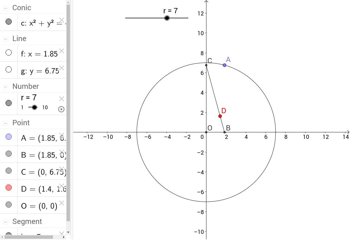軌跡觀察---兩軸上的固定長定點軌跡
