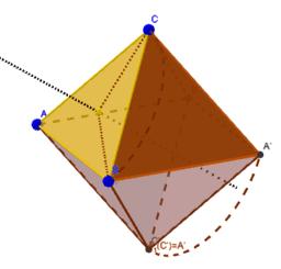 Composición de dos Rotaciones de un Tetraedro