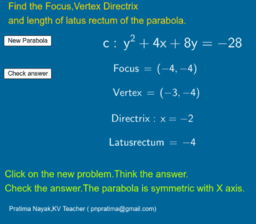 Practice Parabola Problems