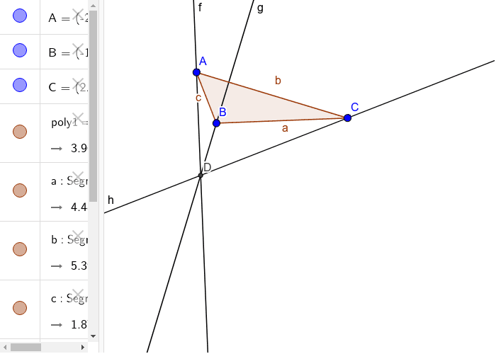 to find the location of orthocentre of a triangle Press Enter to start activity