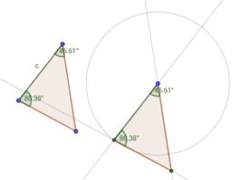 Construcción de triángulos congruentes