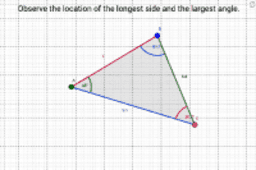 Observe location of the longest side and the largest angle.
