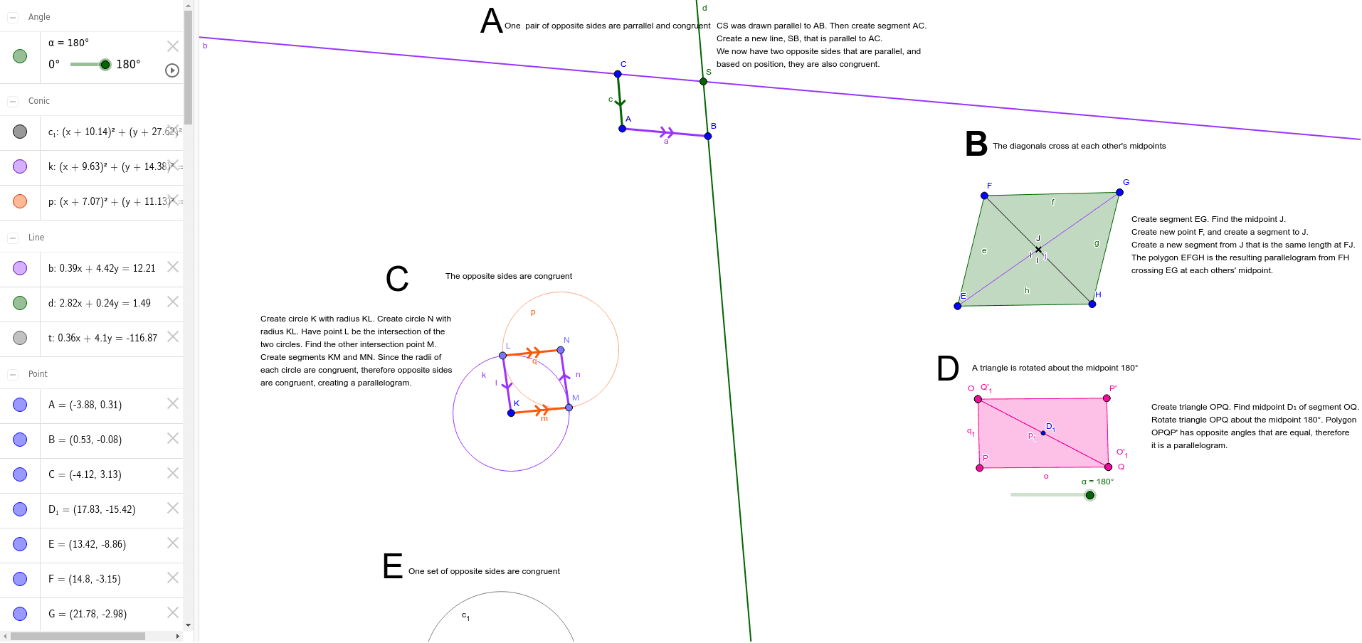 Midpoint Quadrilateral Project