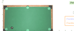 Animación de juego de billar