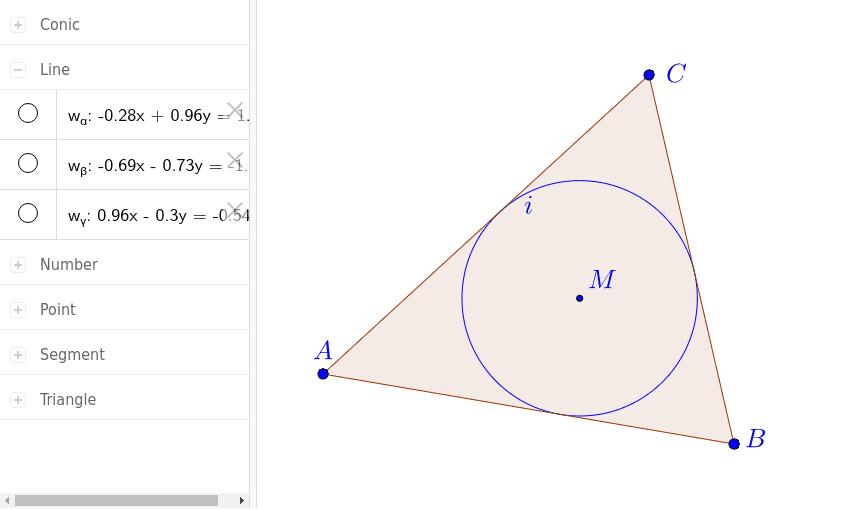 Du kannst dir die Kostruktionsgeraden anzeigen lassen, wenn du links in die Kreise klickst. Drücke die Eingabetaste um die Aktivität zu starten