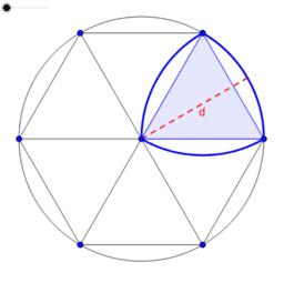 Umfang Reuleaux-Dreieck
