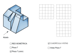 VISTAS/ISOMETRÍA (pieza 7)