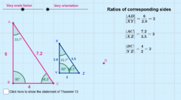 Theorem 13: Similar triangles in proportion