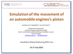 Simulation of the movement of an automobile engine's piston