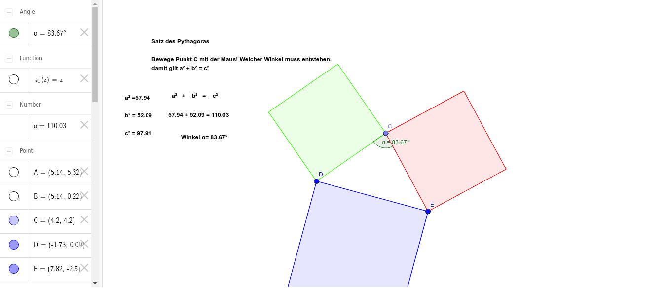 Satz des Pythagoras 2