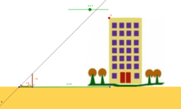 Cálculo de la altura de un edificio (Julio Verne-simplifica)