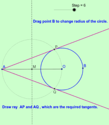 Construction of Tangents to a circle