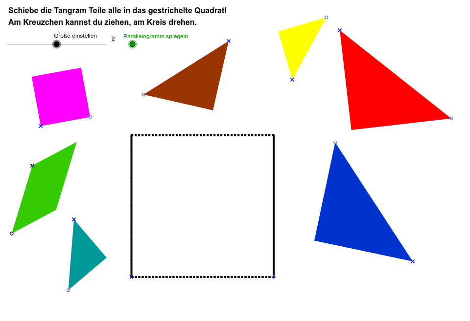 Slide, rotate, and reflect the shapes so that they fit inside the square. MAKE SURE TO DRAW YOUR SOLUTION ON YOUR HW PAPER.  Press Enter to start activity