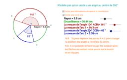Mesure d'arc dans un cercle