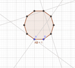 Some interesting properties of the regular decagon