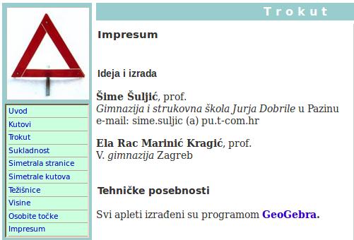 Impresum web izdanja iz 2007. godine