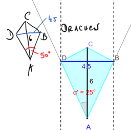 Konstruiere ein Drachenviereck
