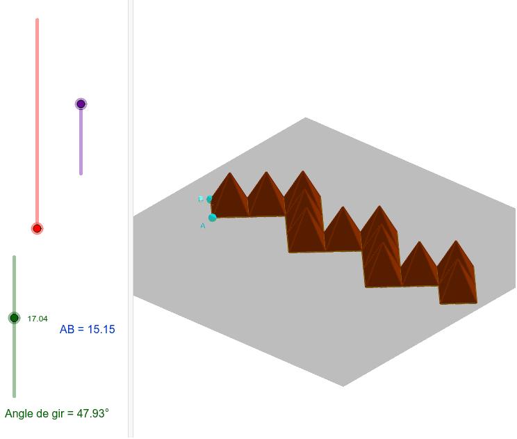Prova amb paràmetres i piràmides de base quadrada Premeu Enter per iniciar l'activitat