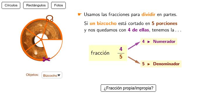 Aprende a representar fracciones Presiona Intro para comenzar la actividad