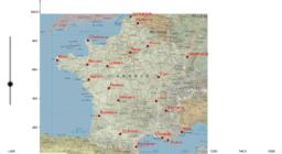 Carte de France interactive