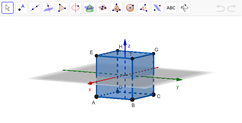 Cubo centrado na origem do referencial Press Enter to start activity