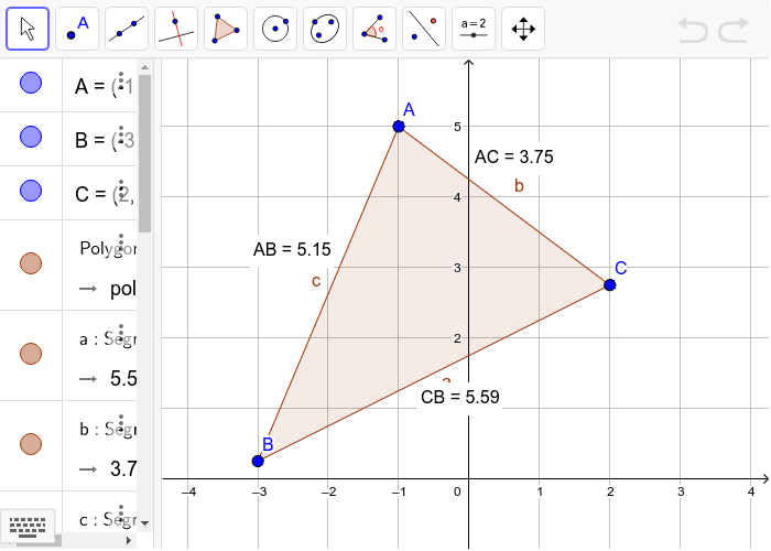 Calculate the perimeter of this triangle