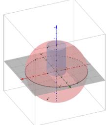 Optimierung - Zylinder in Halbkugel