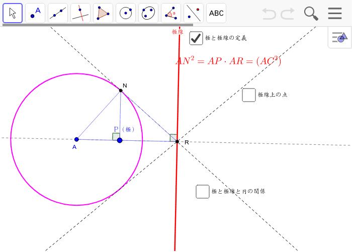 円の極と極線の定義