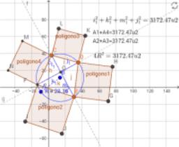 Cuadrilatero inscrito de diagonales perpendiculares