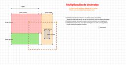 Multiplicación de decimales y cálculo de áreas