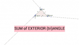 SUM of EXTERIOR of (tri)ANGLE