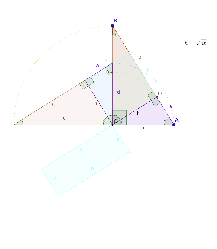 Altitude of a right triangle Press Enter to start activity