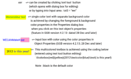 Text Box Input Box Colors