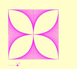 string art - flower