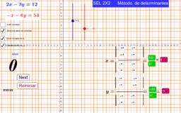 Sistema de ecuaciones lineales por Determinantes