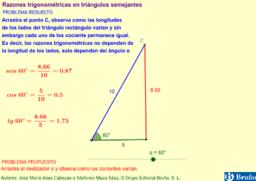 Razones trigonométricas en triángulos semejantes