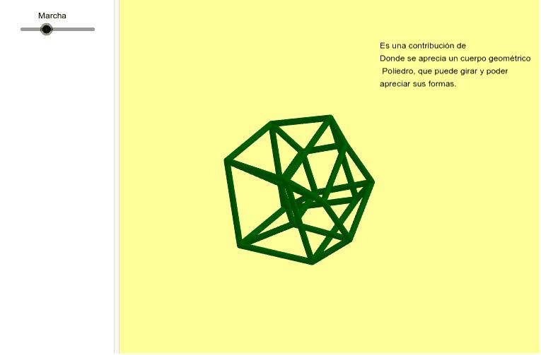 Interesante Cuerpo Geométrico de tres dimensiones por Pepe Muñoz