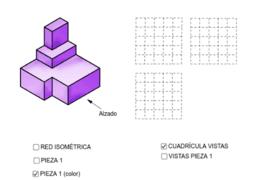 VISTAS/ISOMETRÍA (pieza 1)