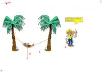 Equilibre d'un hamac sous l'action de 3 forces
