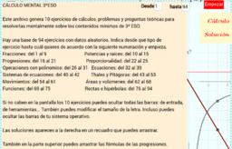 CÁLCULO MENTAL 3ºESO