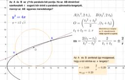 Parabola két pontja