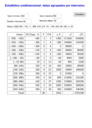 Estadística por intervalos