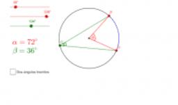 Relaciones de ángulos en la circunferencia