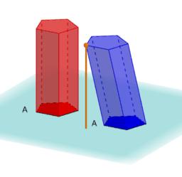 Principi de Cavalieri per prismes oblics
