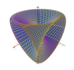 "Mesh effect: ""Roman Surface"" in GeoGebra 3D"