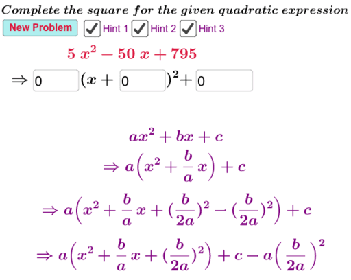 Completing the Square - Advanced – GeoGebra