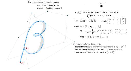 Bézier Curve Coefficient Matrix – GeoGebra