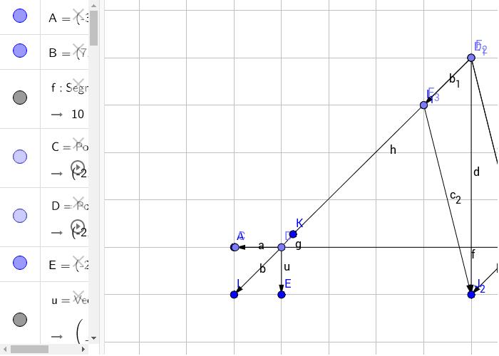Geometrické určení těžiště úsečky
