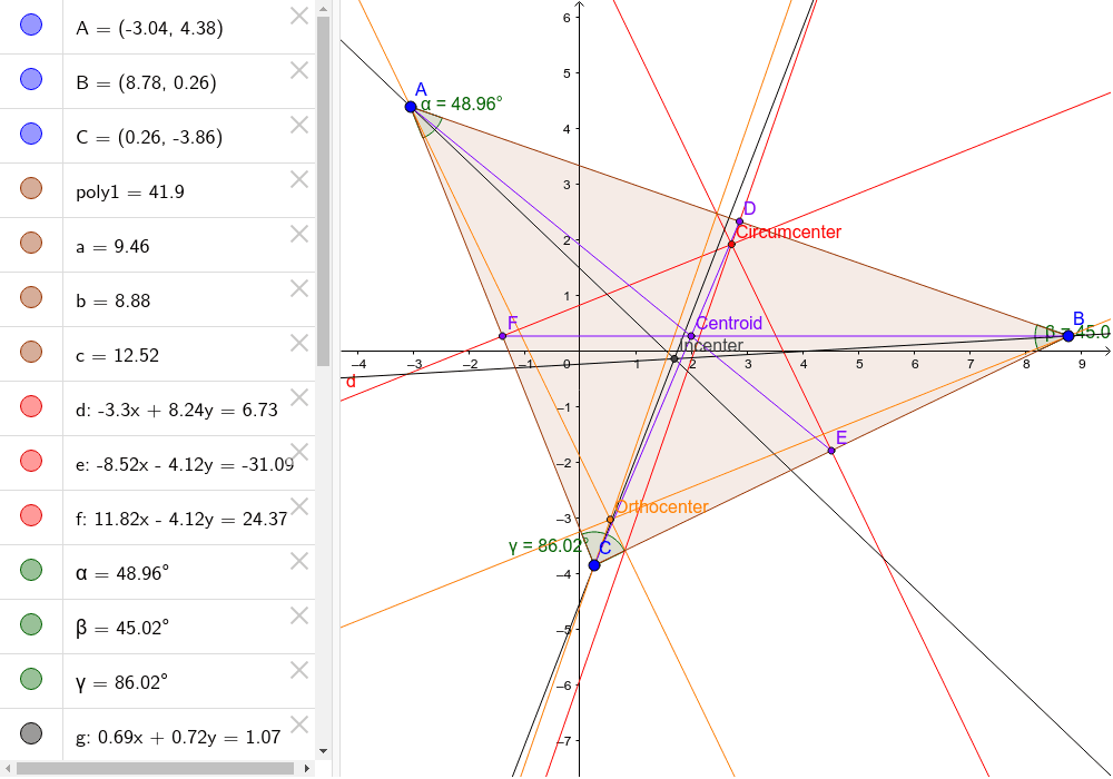 Explore the different segments in triangles.