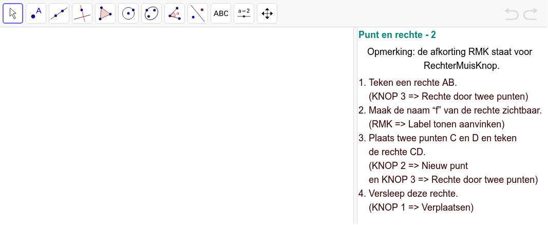 Opdracht 2 : Punt en rechte Klik op Enter om de activiteit te starten